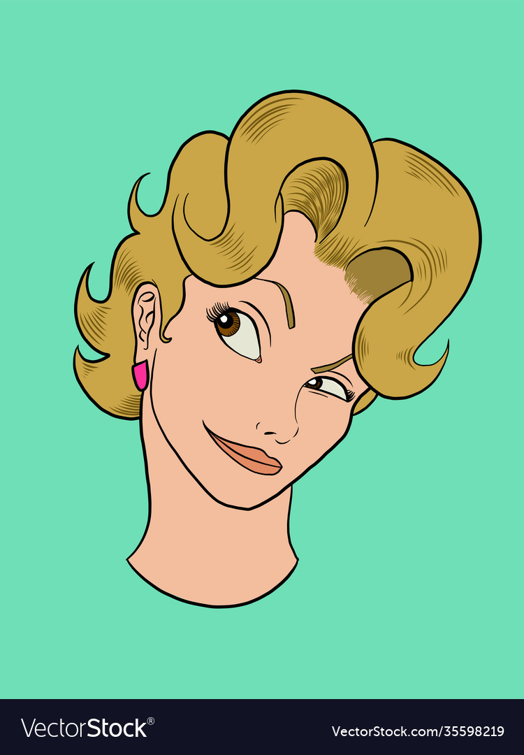Blonde girl face portrait