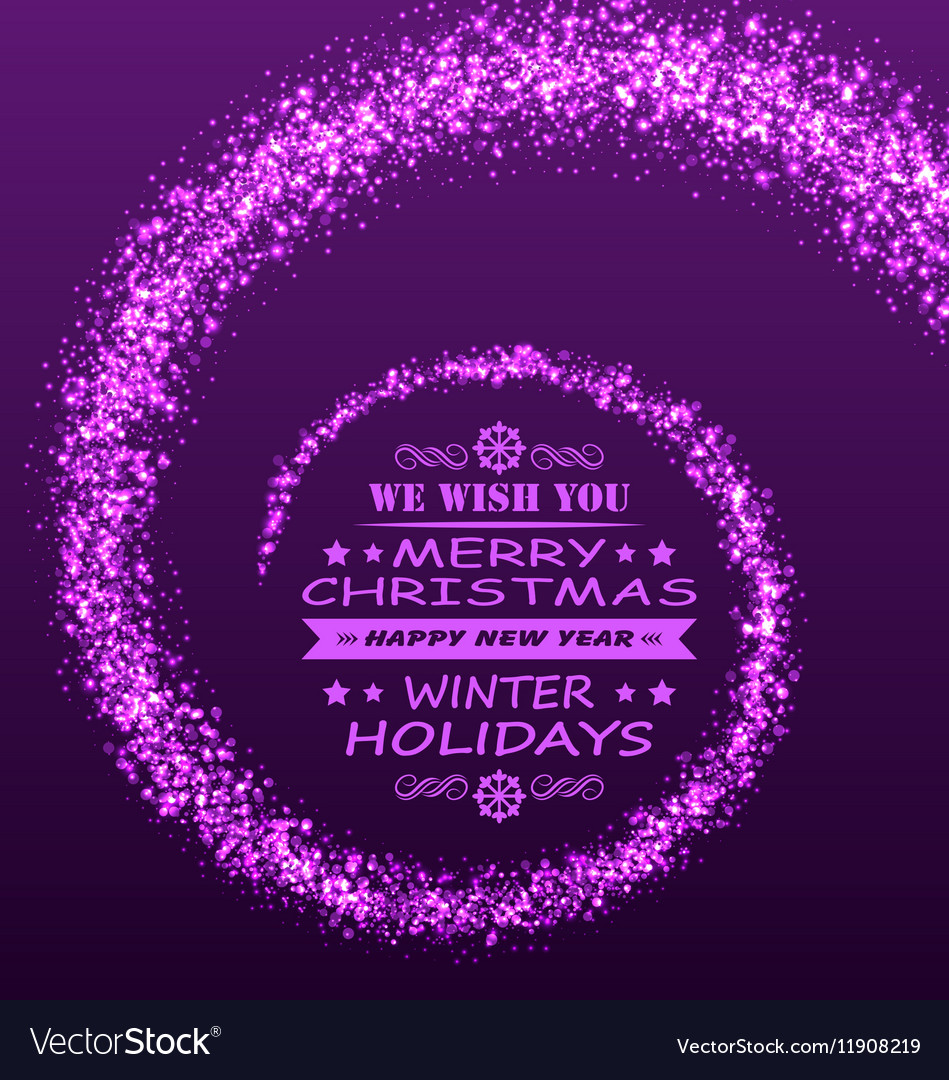 Christmas Wishes with Magic Dust Purple Glitter