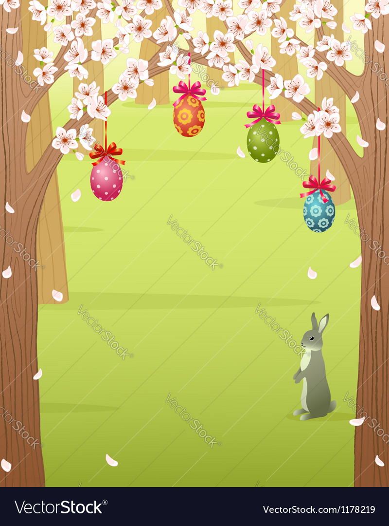 Easter forest vector image