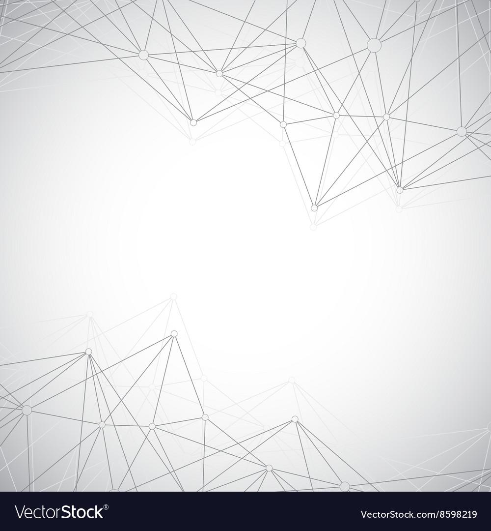 Geometric grey background molecule and