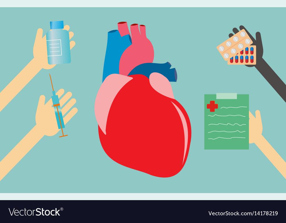 Healthcare concept - heart vector image