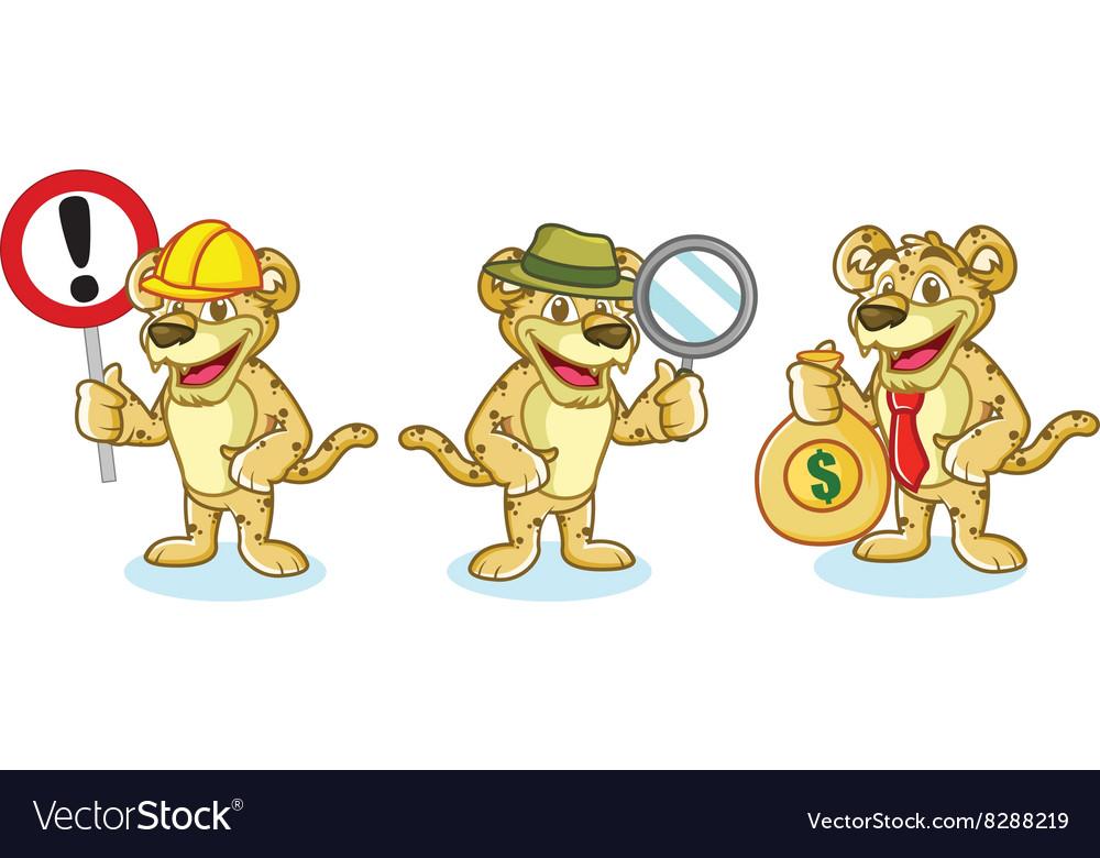 Jaguar Mascot with money