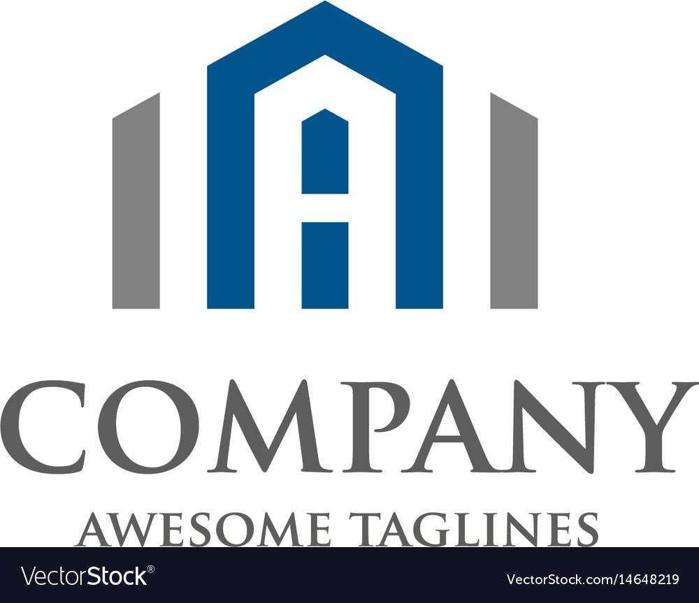 Letter a real estate logo design vector image