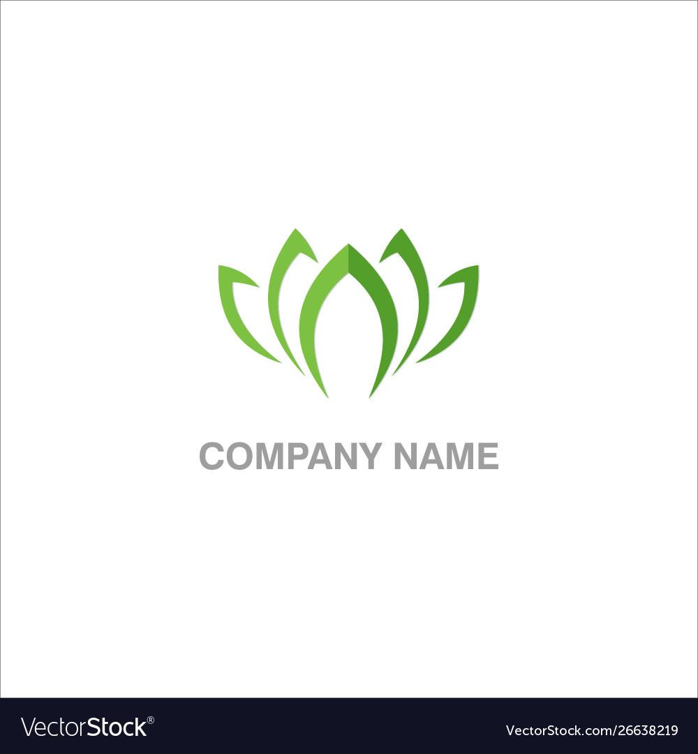 Lotus green leaf logo