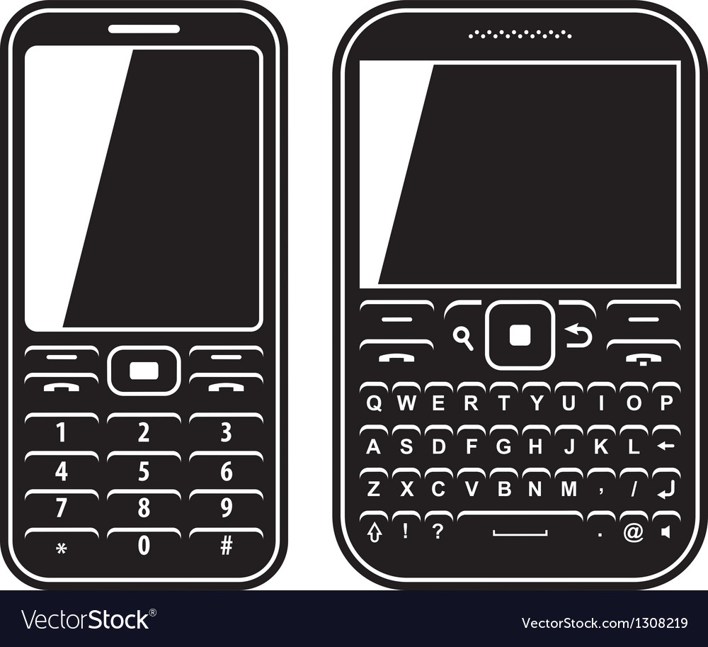 Modern mobile set phone with QWERTY keyboard Black