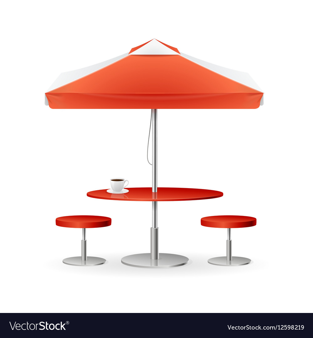 Parasol Promo Summer Caffee Royalty Free Vector Image