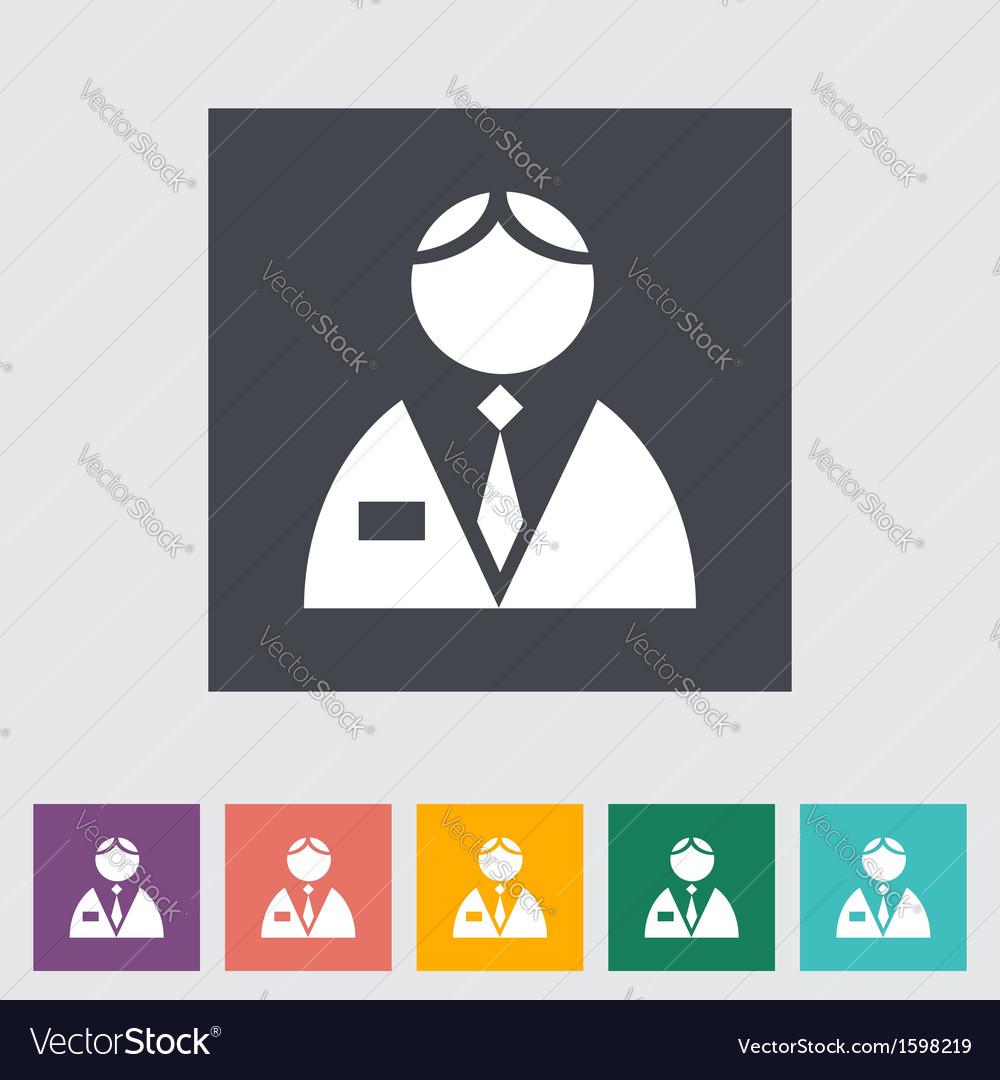 Person single flat icon
