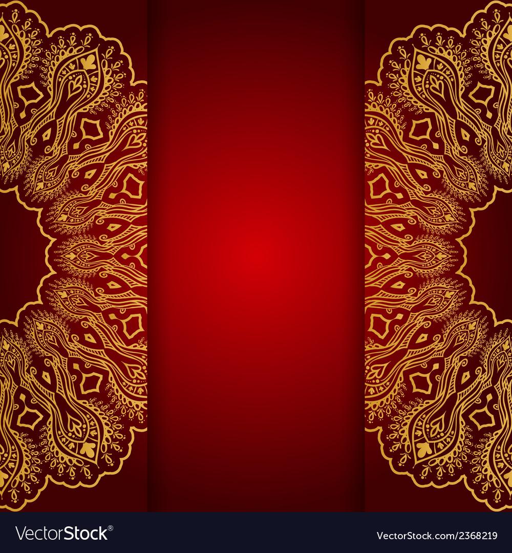 Royal gold ornamental greeting card