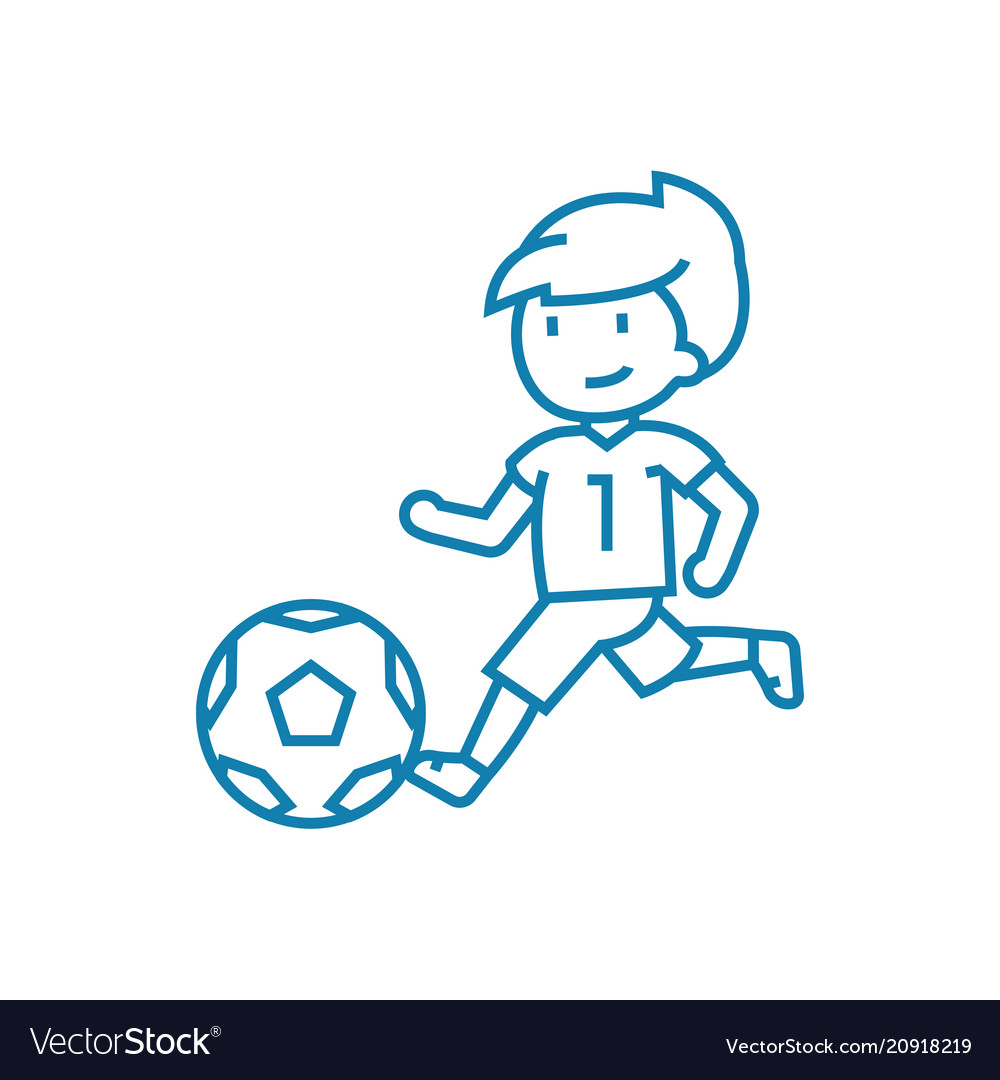 Soccer competitions linear icon concept soccer