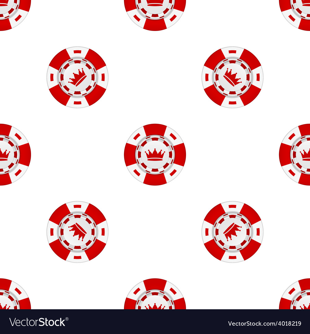 Universal casino chips seamless patterns
