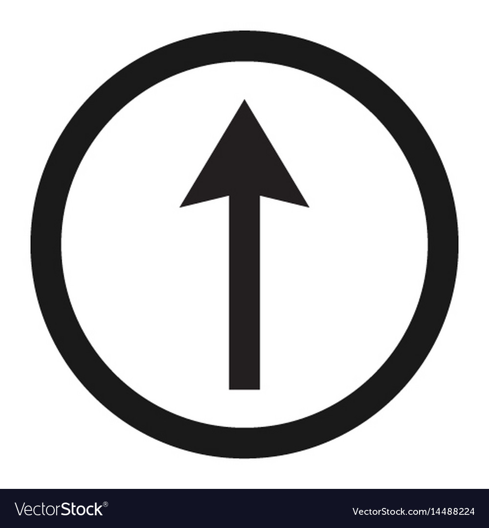 Ahead only and drive straight sign line icon