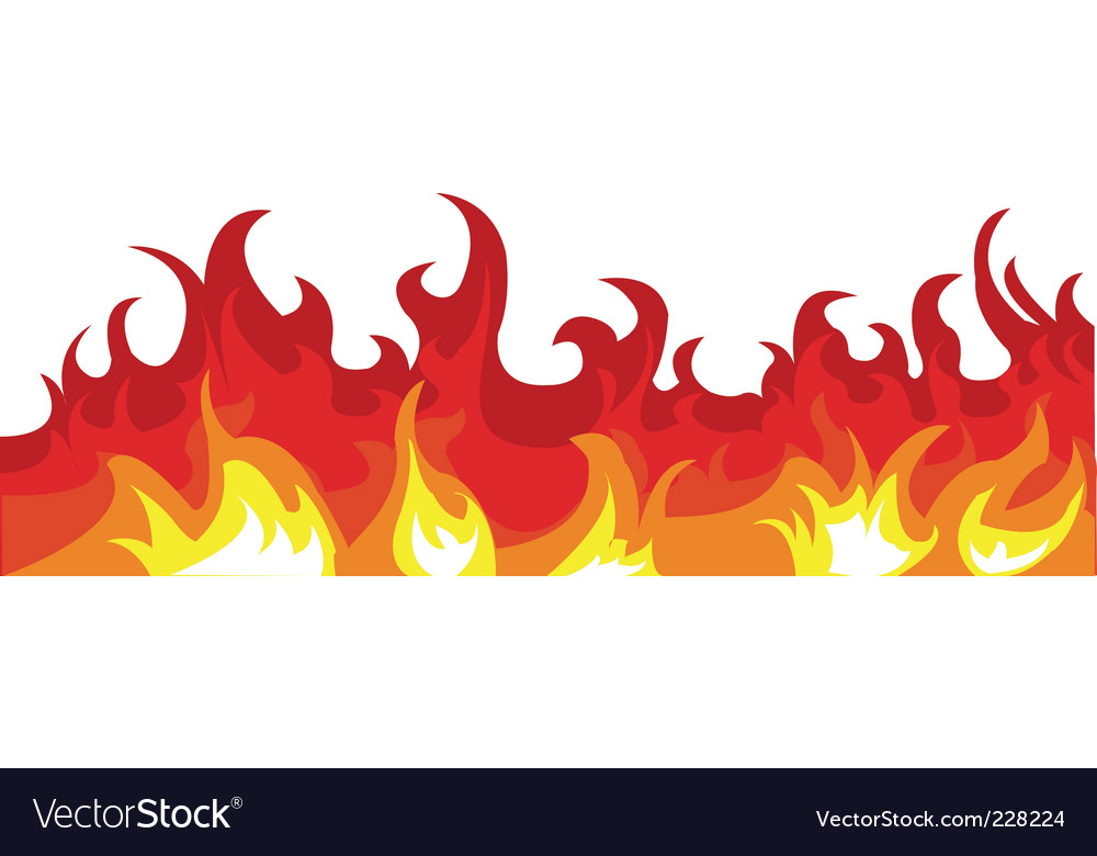 burning fire royalty free vector image vectorstock rh vectorstock com vector fire and security vector firearms
