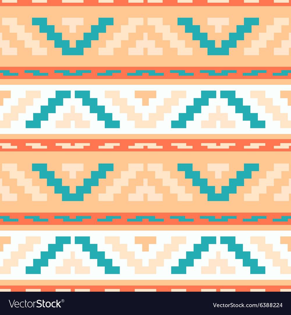 Buttercream stripped tribal geometric pattern