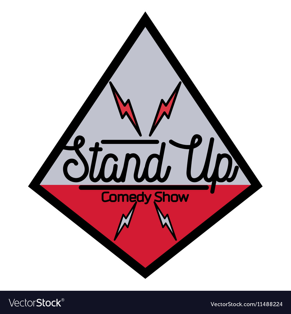 Color vintage Stand up comedy show emblem