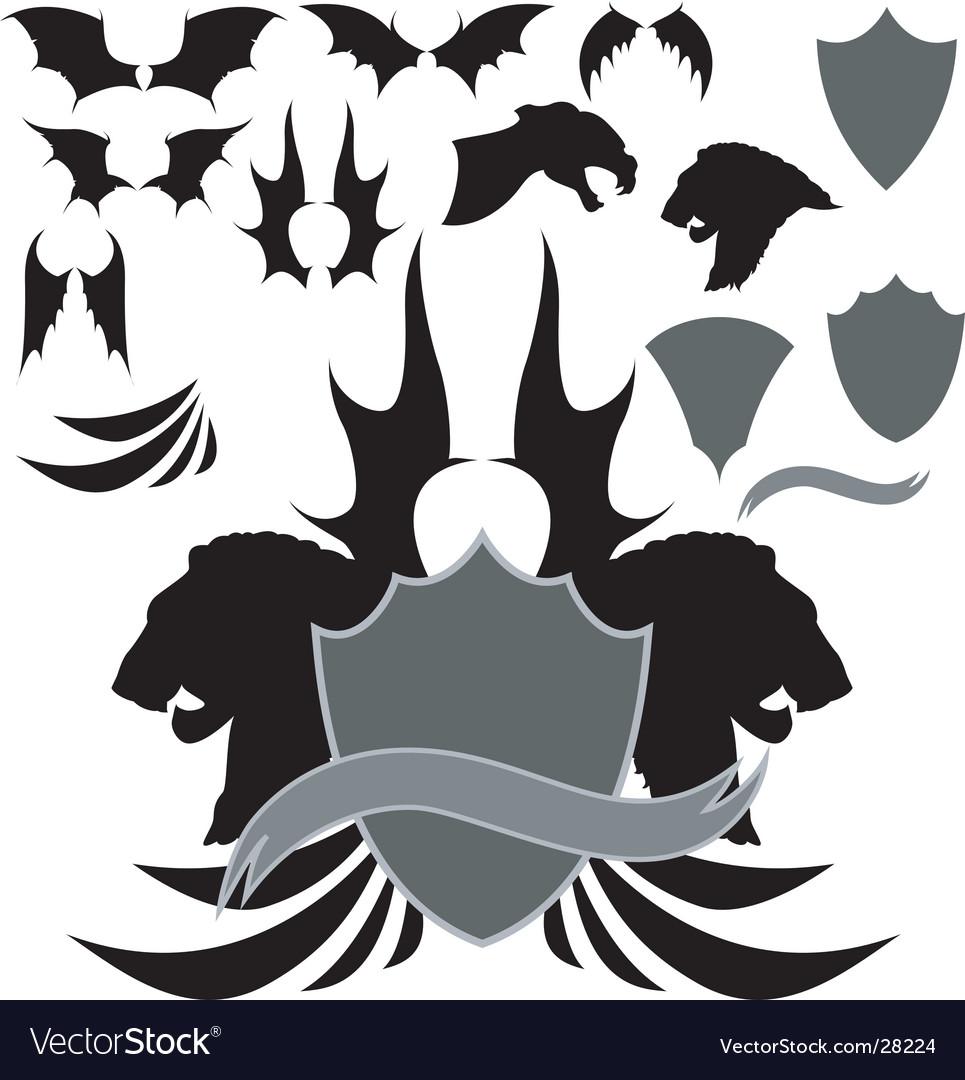 Dragon wing heraldry
