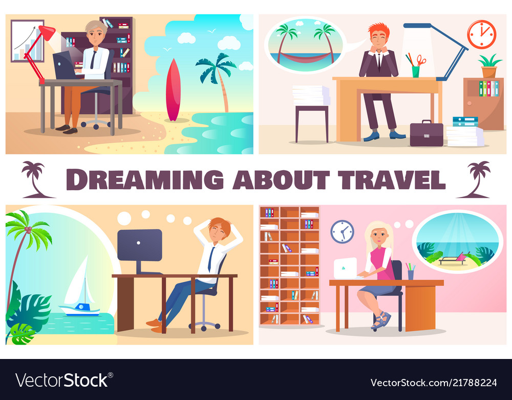 Dreaming about travel color