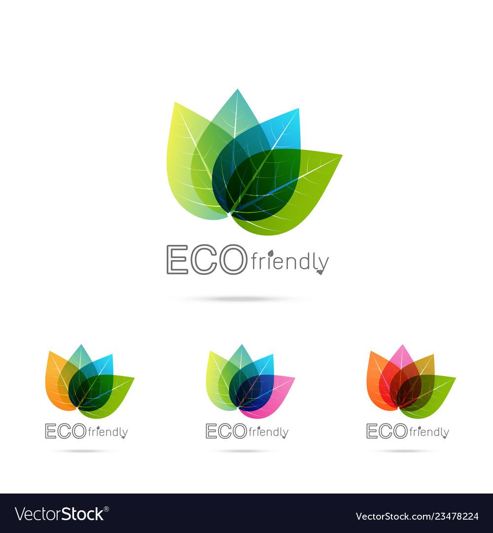 Green leaf logo design