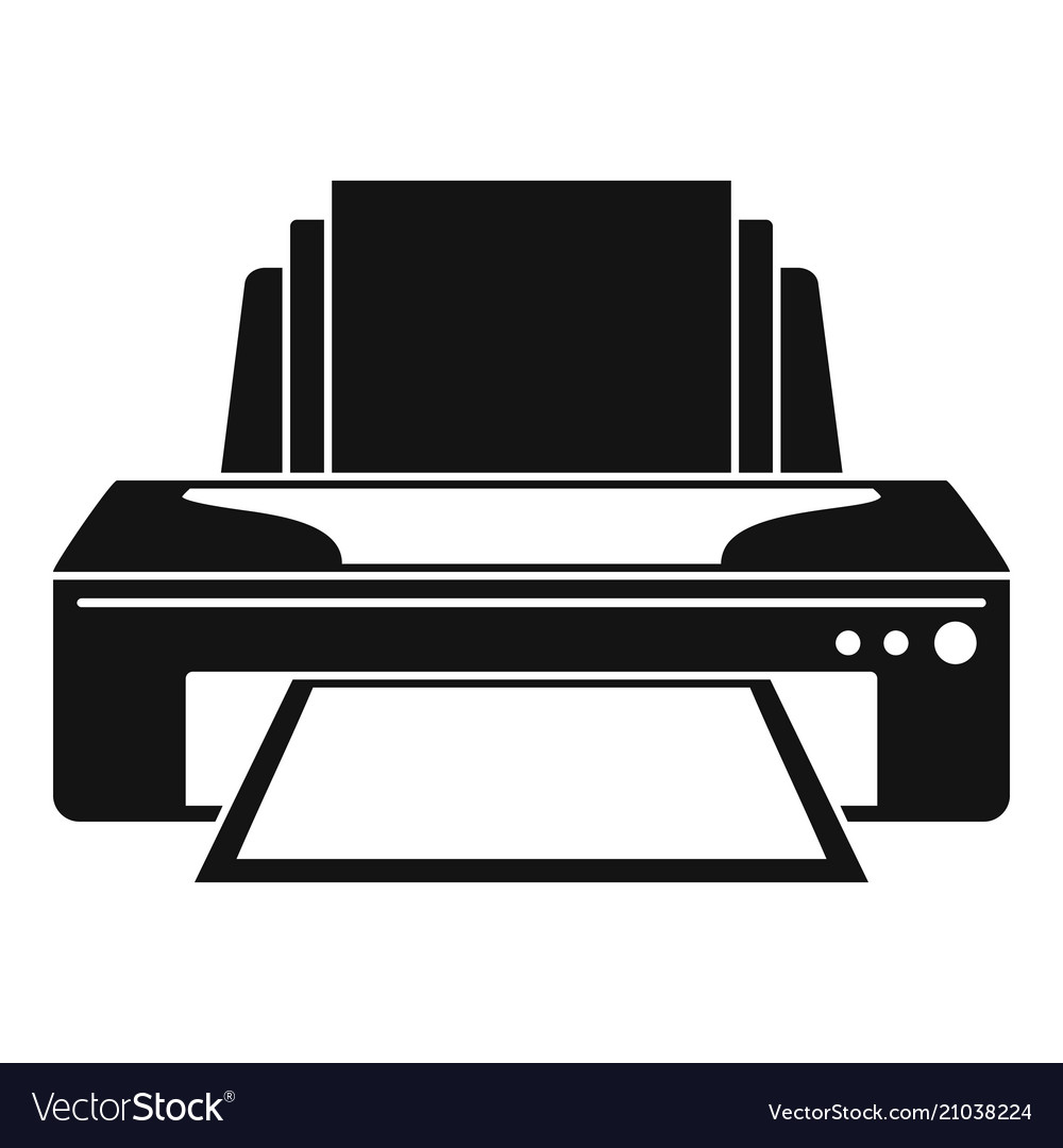 jet printer icon simple style royalty free vector image vectorstock