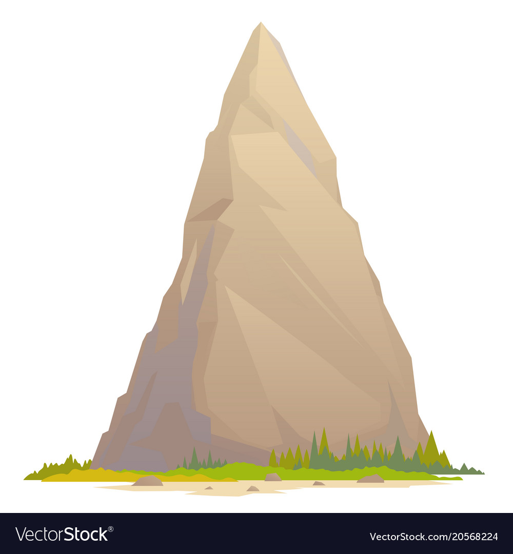 One high mountain peak vector image