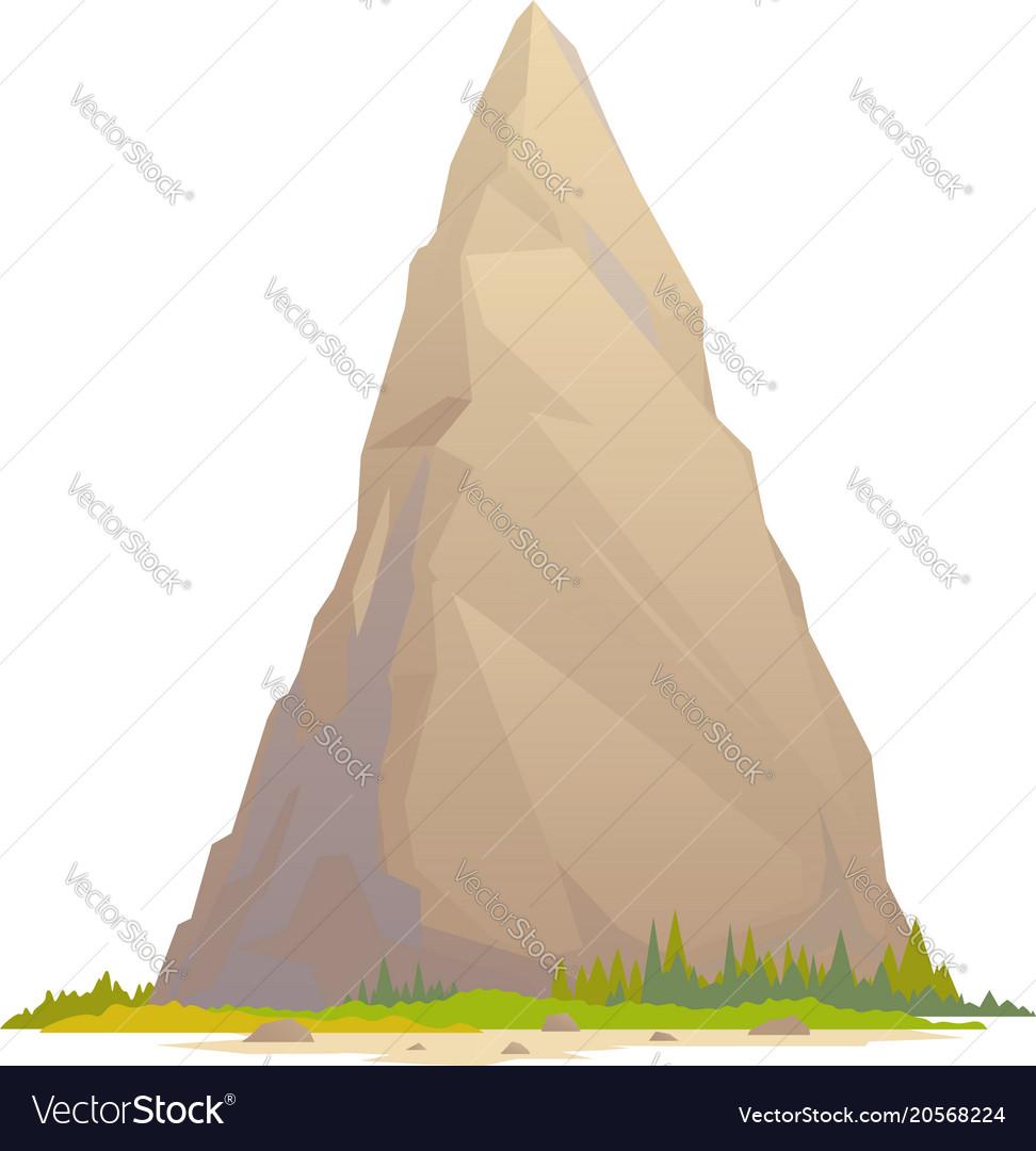One high mountain peak