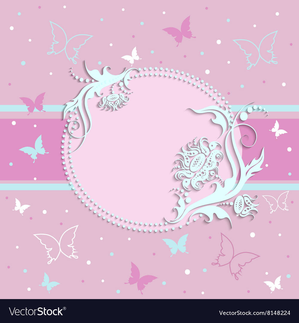 Pink card for girls