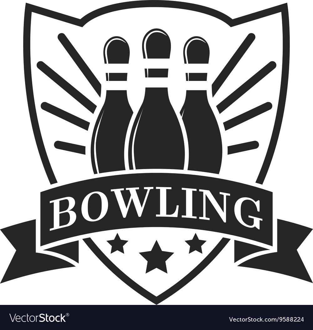 Set of bowling emblems