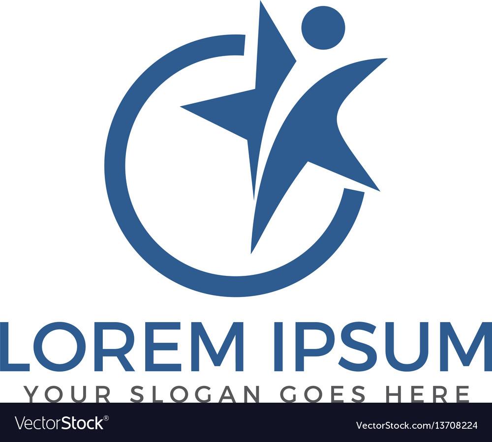 Star and winner logo design