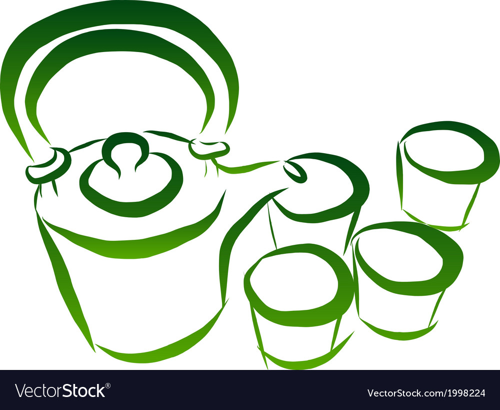 Teaset vector image