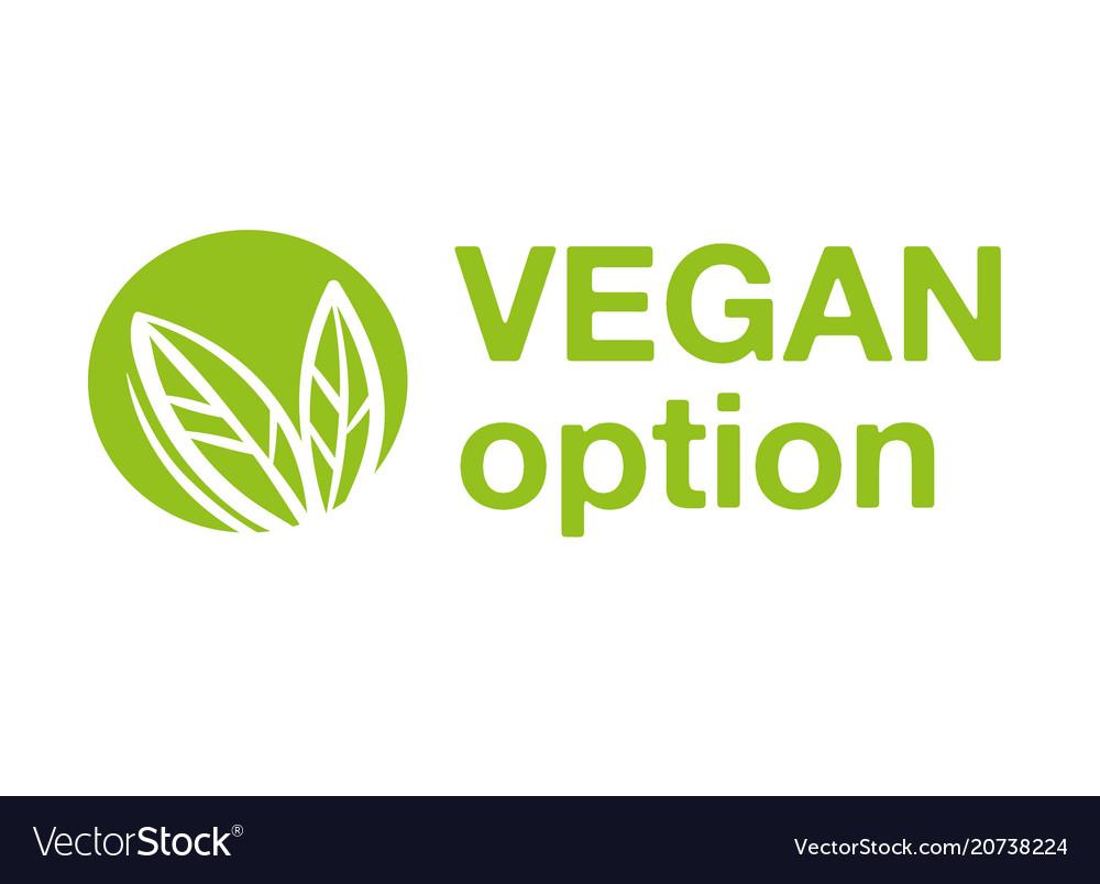 Vegan option logo