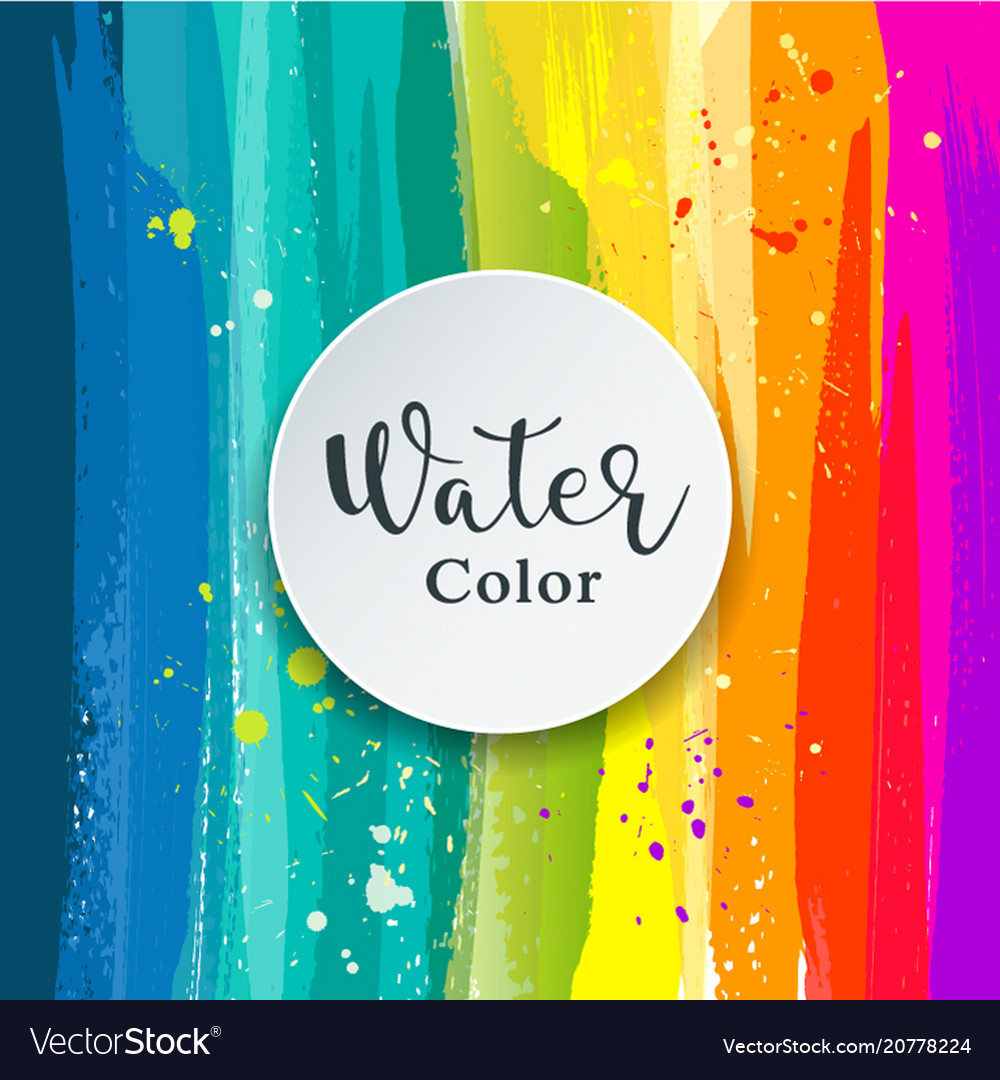 Watercolor abstract background design