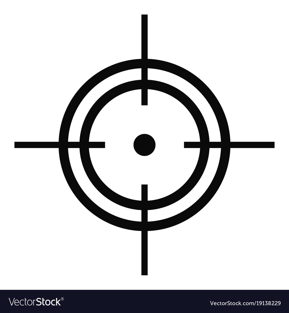 aim icon simple style royalty free vector image vectorstock
