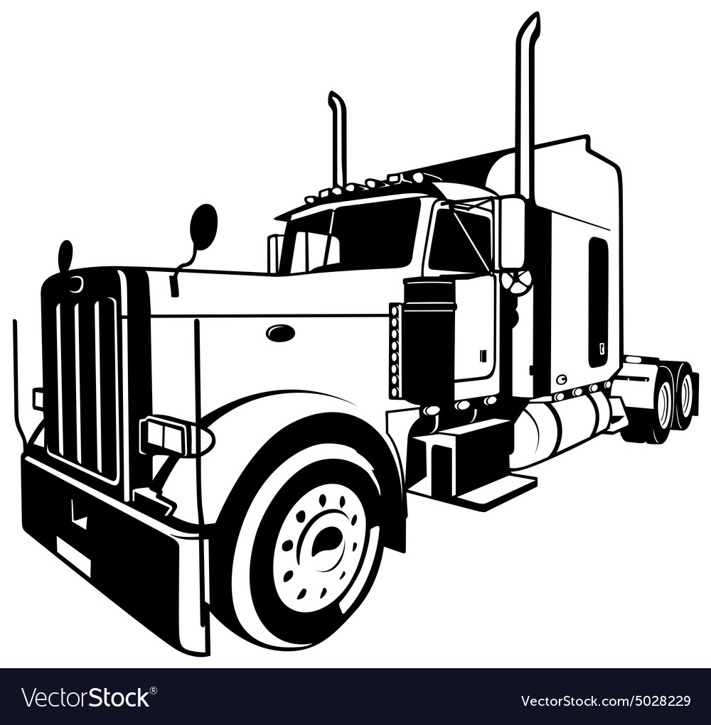 american truck royalty free vector image vectorstock rh vectorstock com truck vector logo truck vector free
