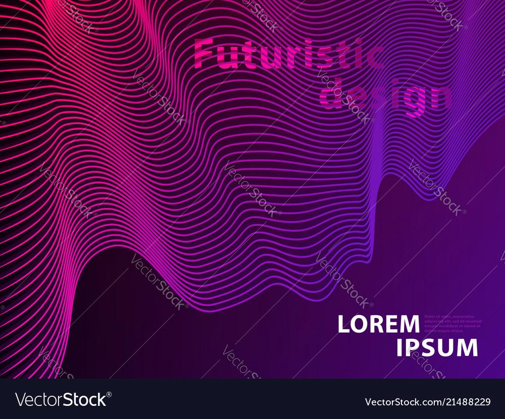 Futuristic template design background modern