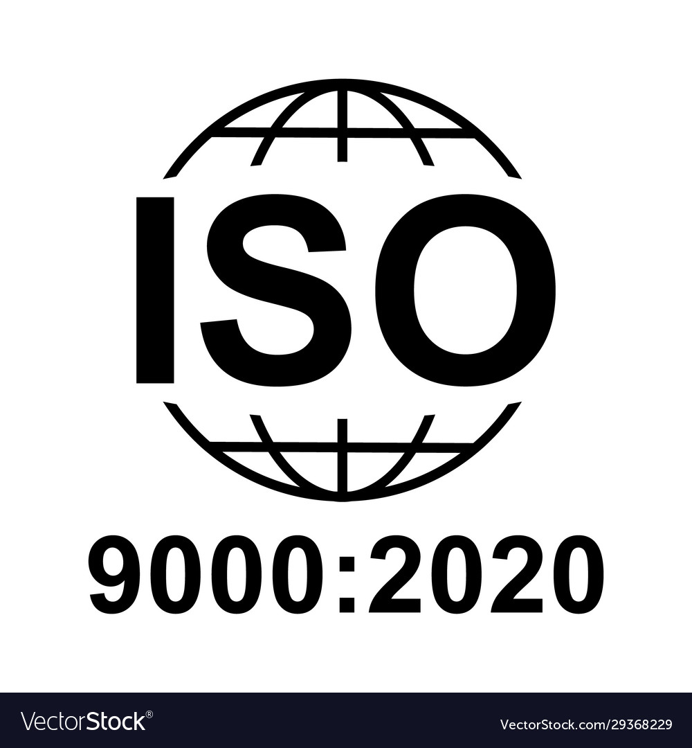iso 90002020 icon standard quality symbol button vector image vectorstock