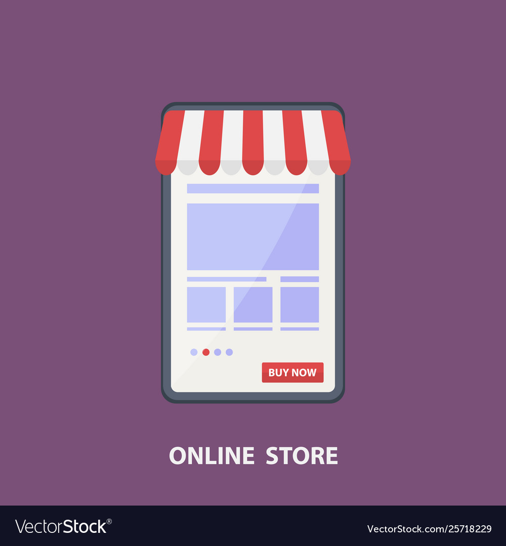 Phone store flat design shopping concept