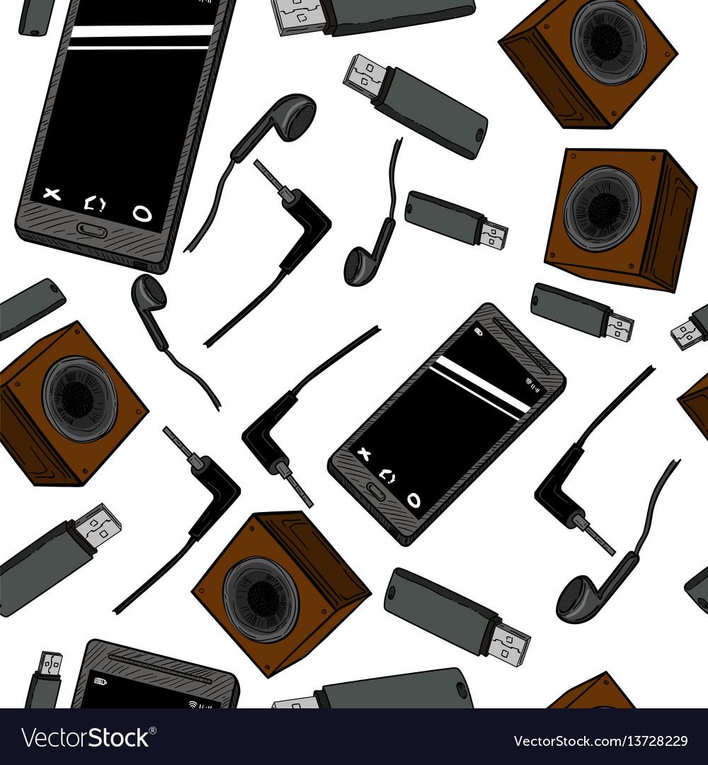 Seamless pattern electronic gadget
