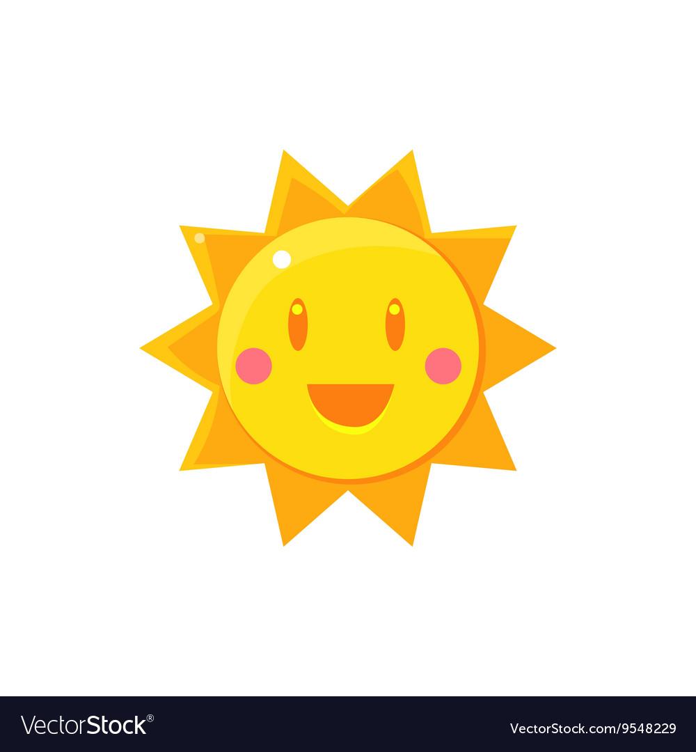 Simple Yellow Sun Drawing