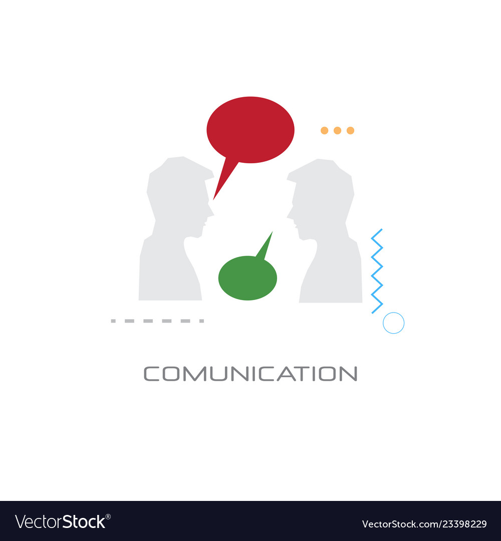 Two men chat bubble speech business communication