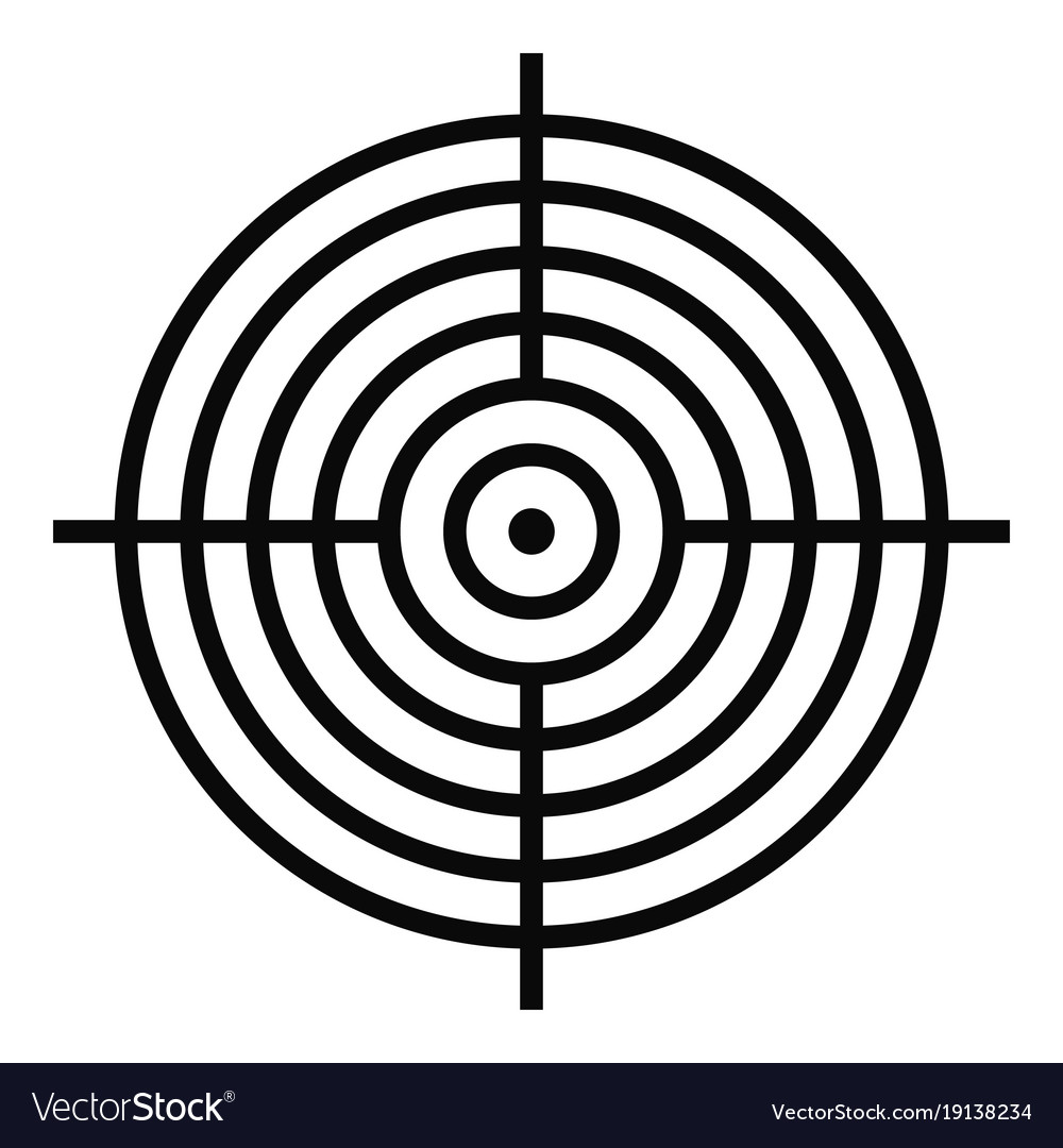 Aiming Radar Icon Simple Style Royalty Free Vector Image