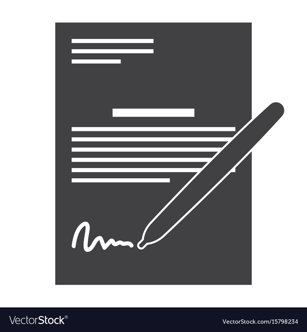 Business contract and pen
