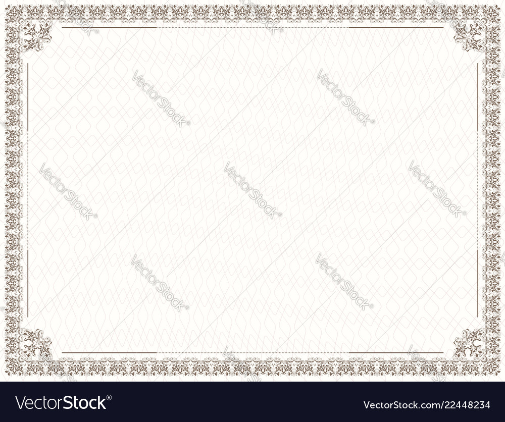 Design of border for diploma and certificate