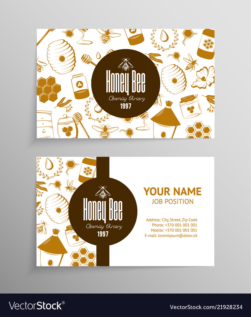 Honey and beekeeping business cards