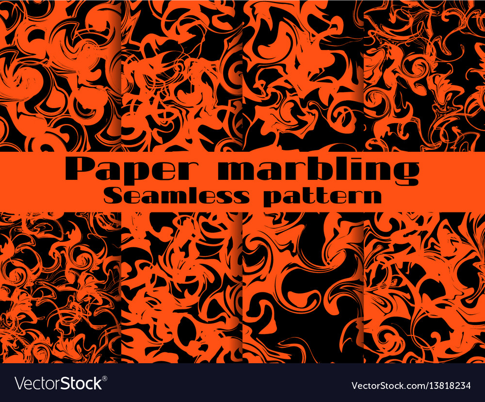 Marbling seamless pattern set marbled paper