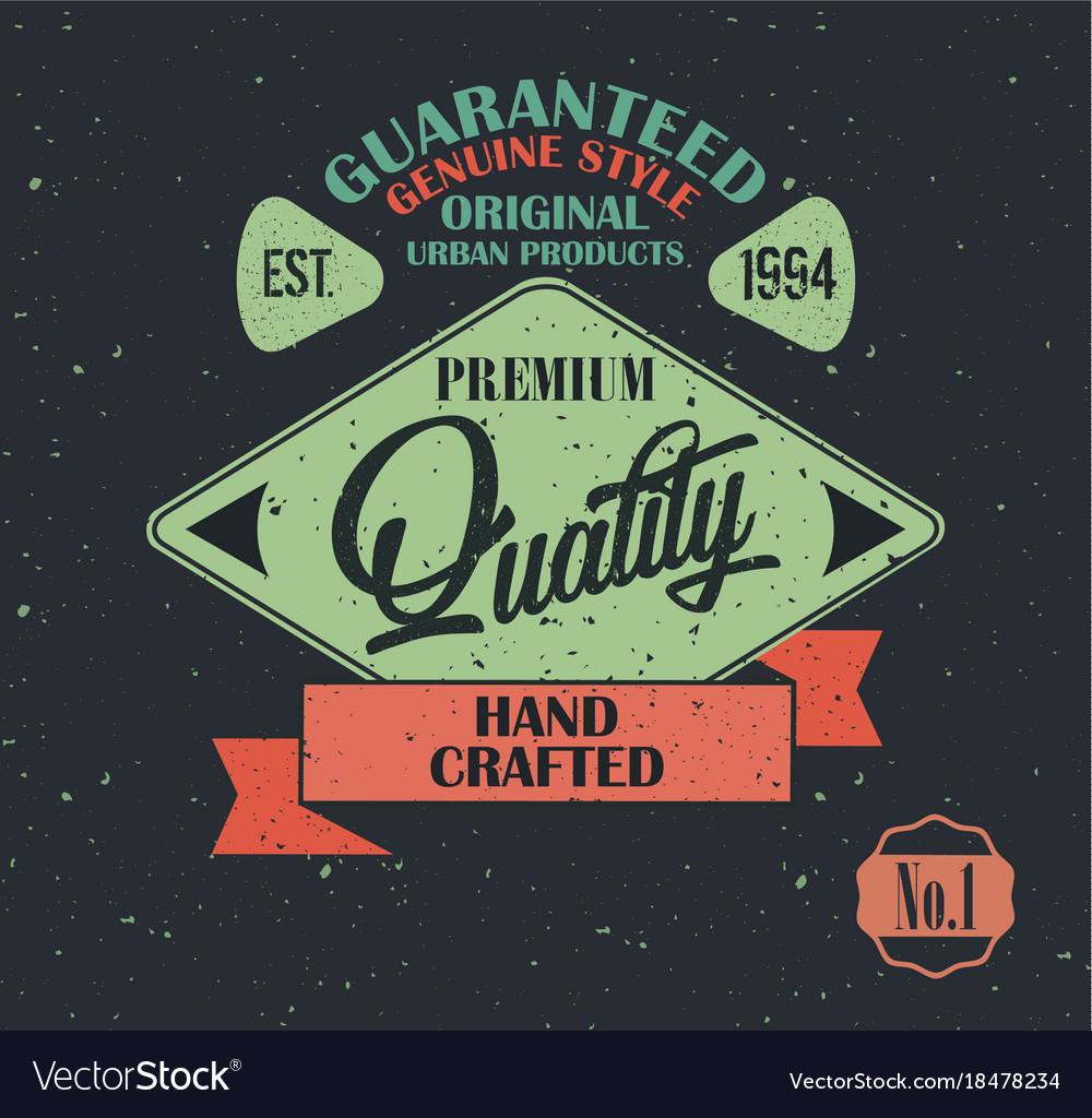 Original product vintage label design