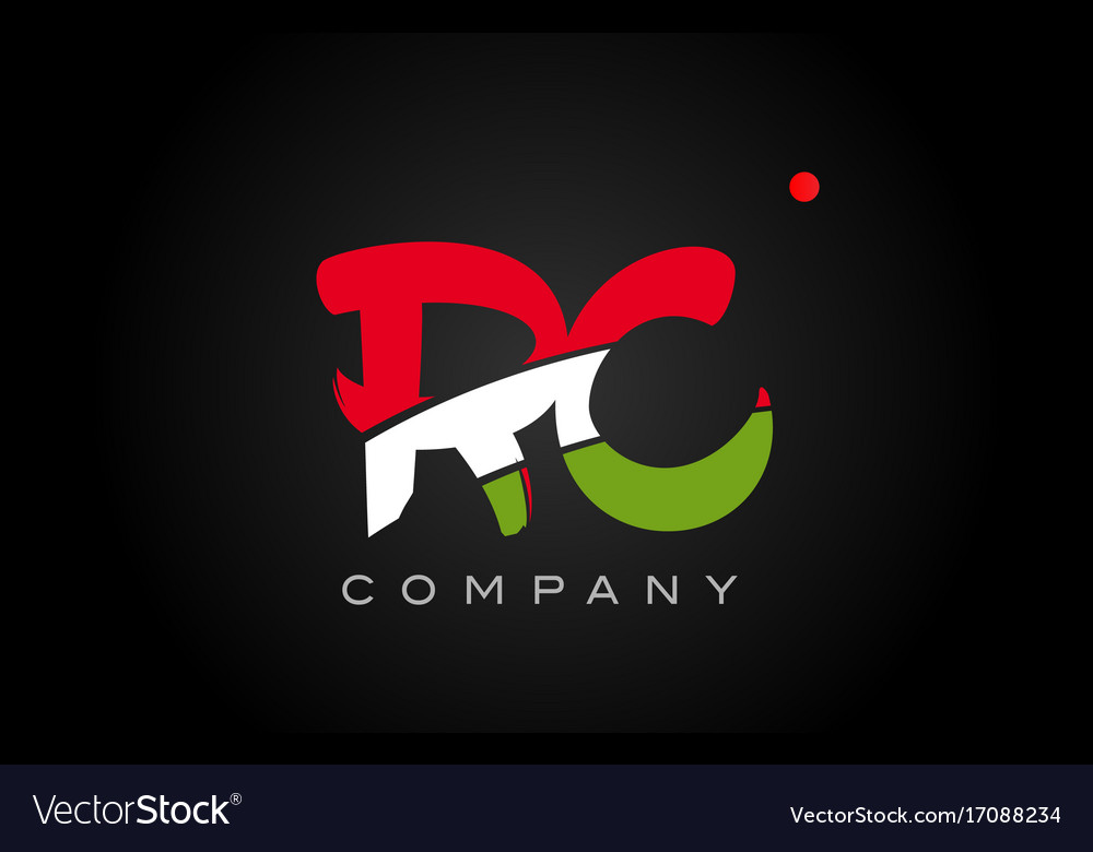 Rc r c alphabet letter logo combination icon