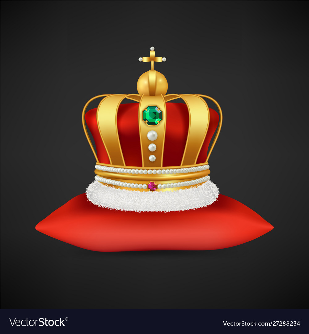 Royal crown realistic luxury gold symbol
