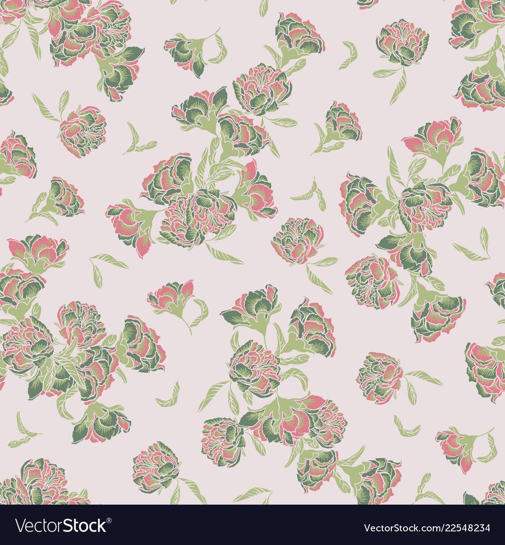 Seamless chinoiserie pattern background