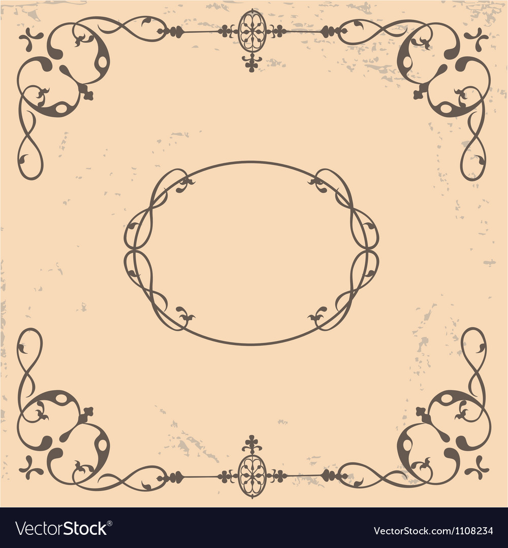 Vintage background with calligraphic elements vector image