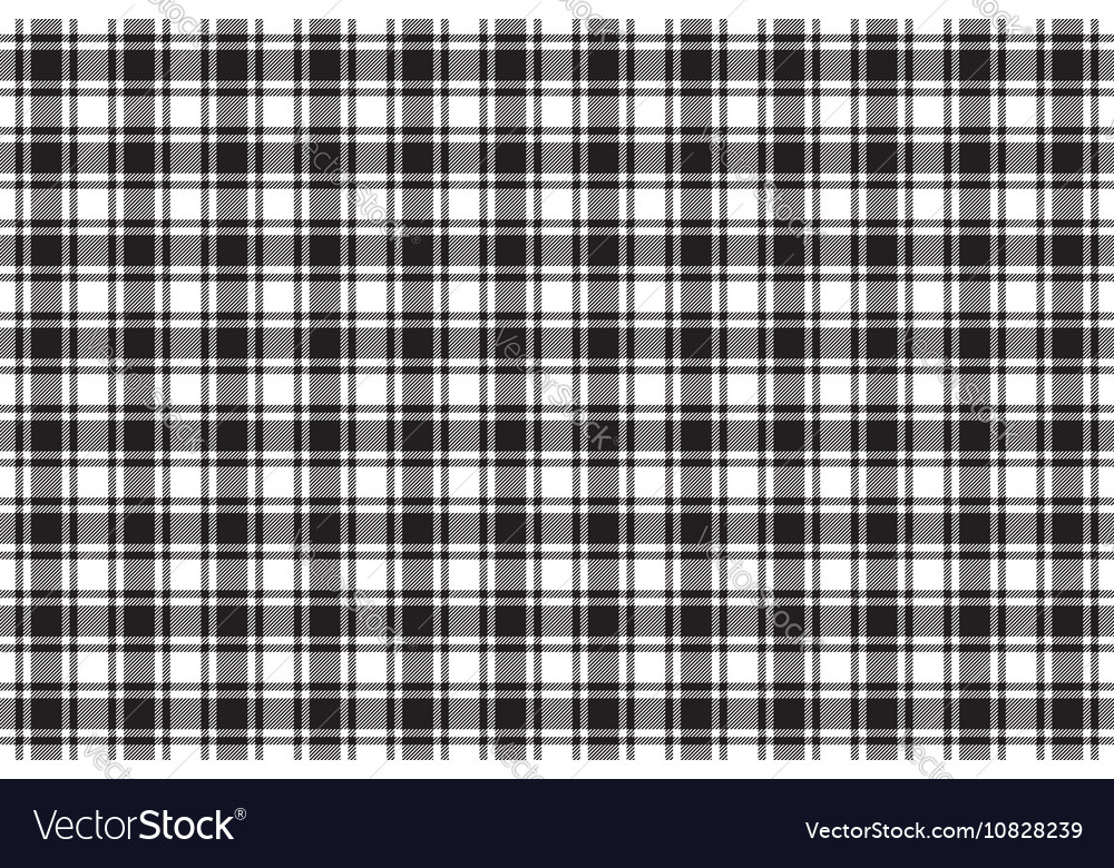Black White Check Plaid Texture Seamless Pattern Vector Image