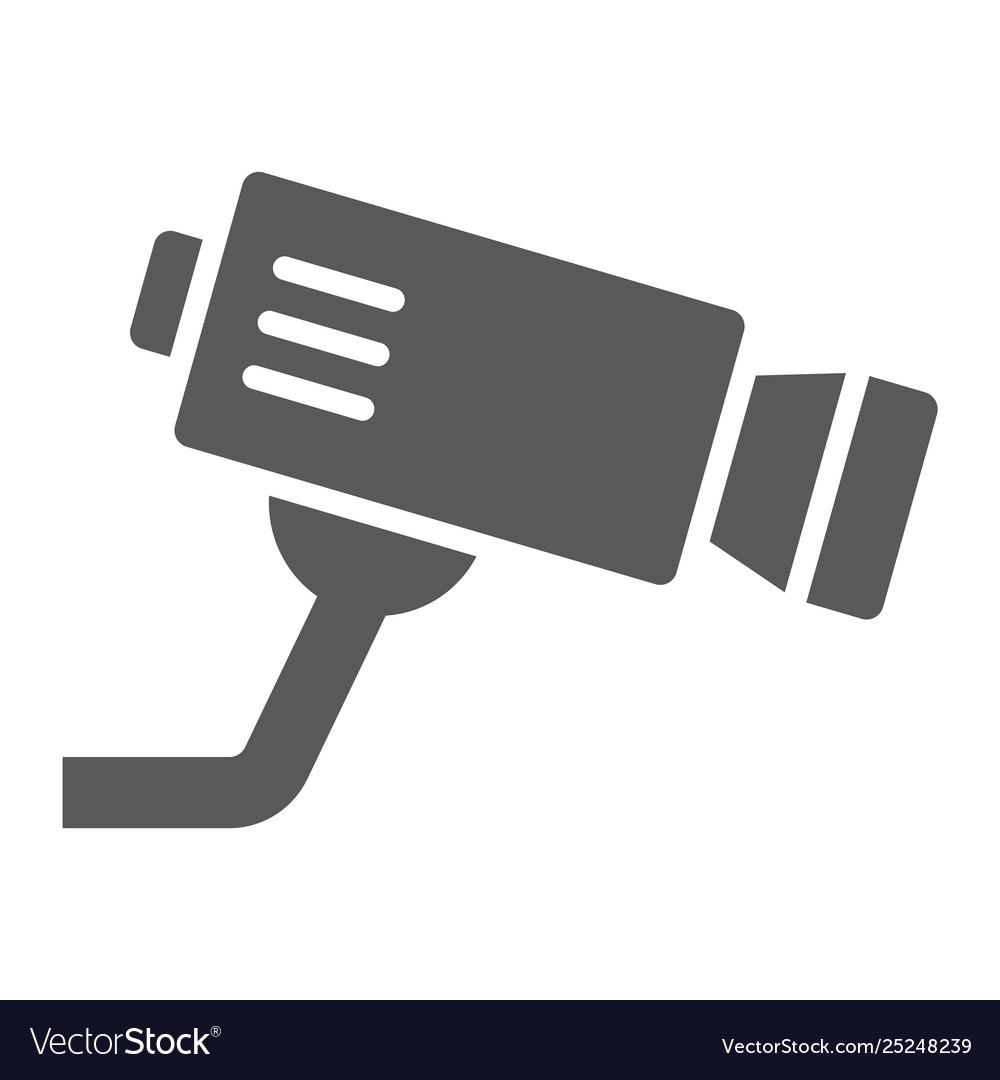 Cctv camera glyph icon privacy and video